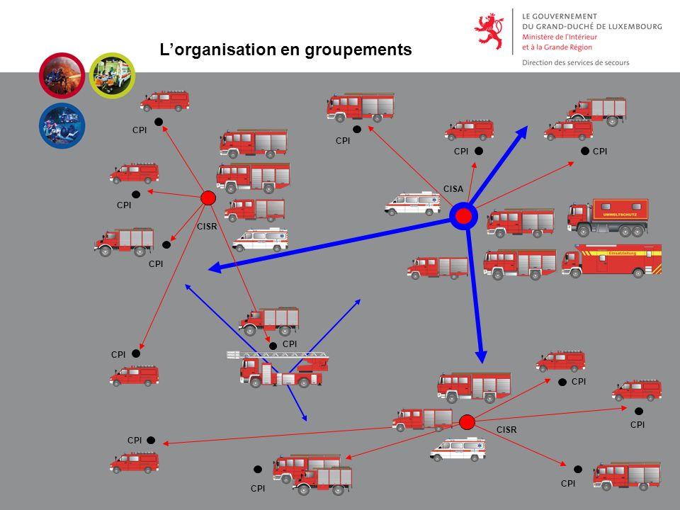 Lorganisation en groupements CPI CISR CISA CPI CISR