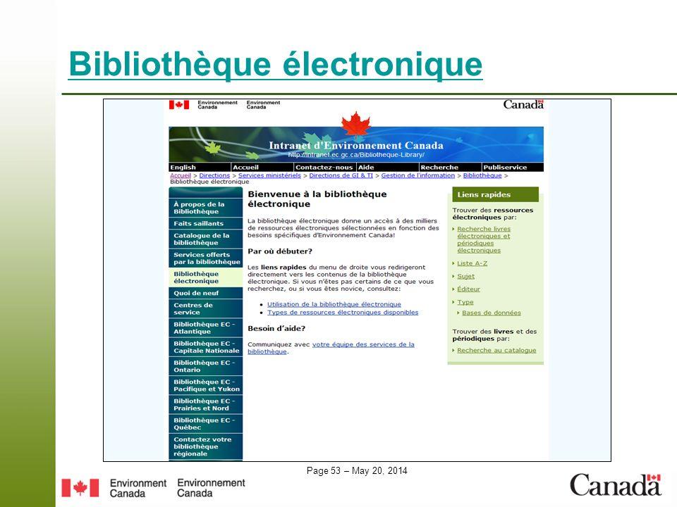 Page 53 – May 20, 2014 Bibliothèque électronique