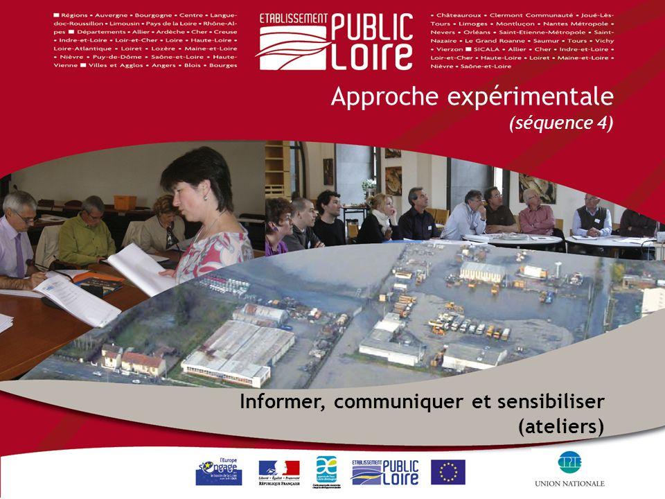 1 1 Informer, communiquer et sensibiliser (ateliers) Approche expérimentale (séquence 4)