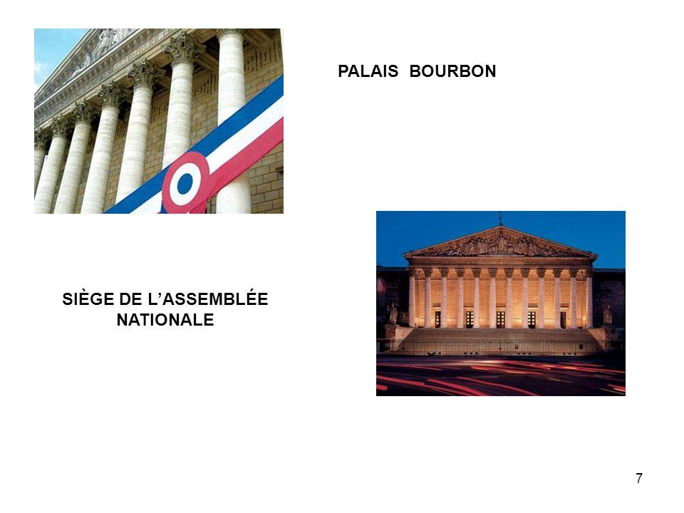 7 PALAIS BOURBON SIÈGE DE LASSEMBLÉE NATIONALE