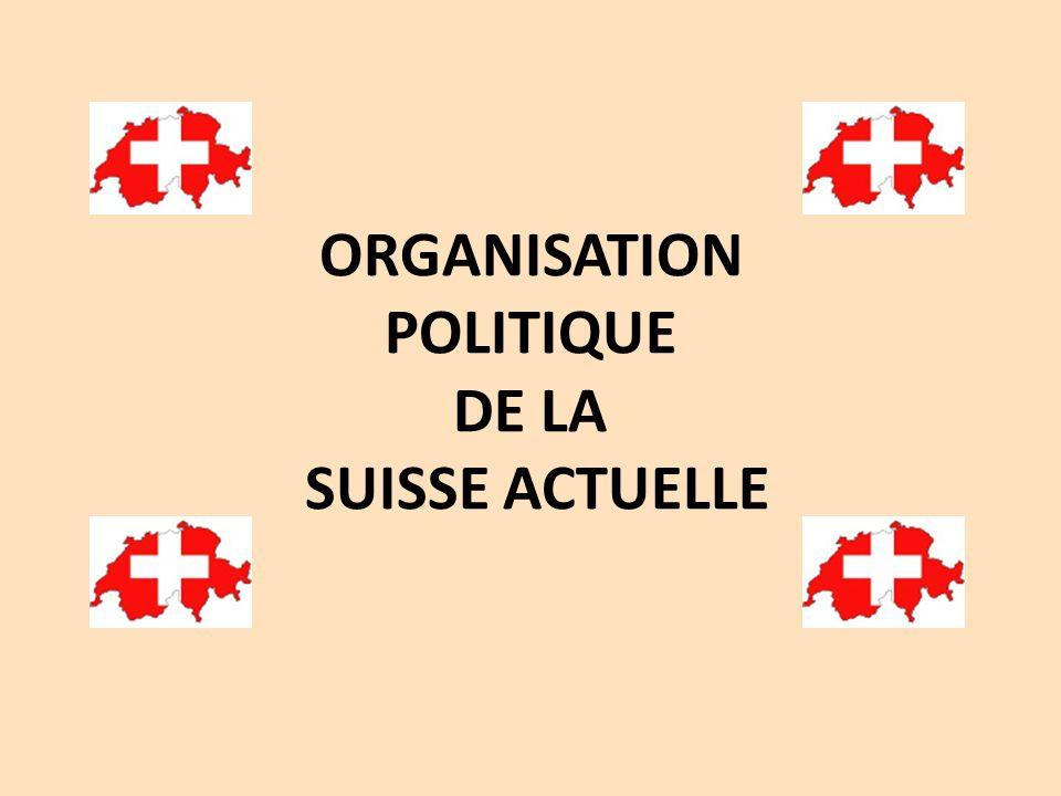 ORGANISATION POLITIQUE DE LA SUISSE ACTUELLE