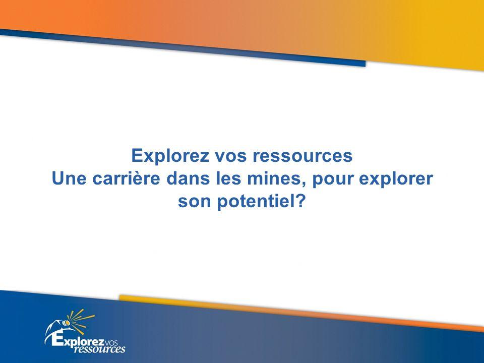 Explorez vos ressources Une carrière dans les mines, pour explorer son potentiel?