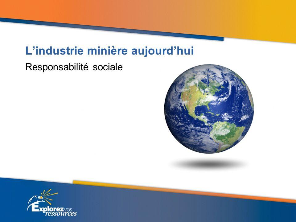 Lindustrie minière aujourdhui Responsabilité sociale