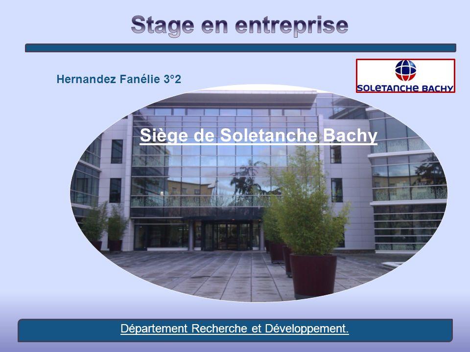 Hernandez Fanélie 3°2 Siège de Soletanche Bachy Département Recherche et Développement.