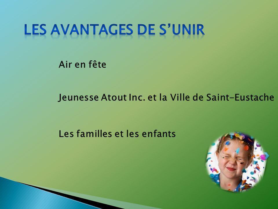 Air en fête Jeunesse Atout Inc. et la Ville de Saint-Eustache Les familles et les enfants