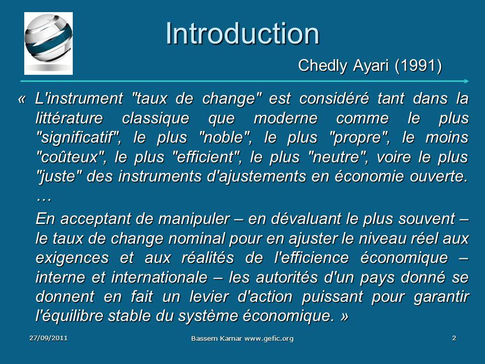 Introduction Chedly Ayari (1991) Chedly Ayari (1991) « L'instrument
