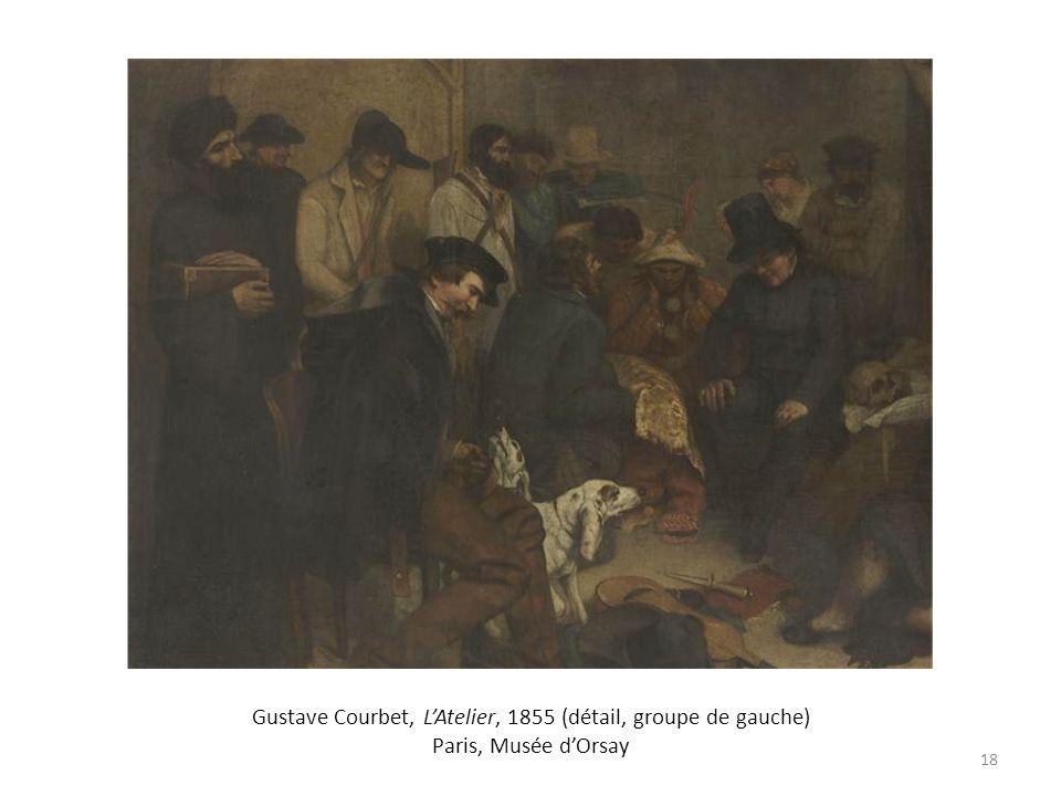 Gustave Courbet, LAtelier, 1855 (détail, groupe de gauche) Paris, Musée dOrsay 18