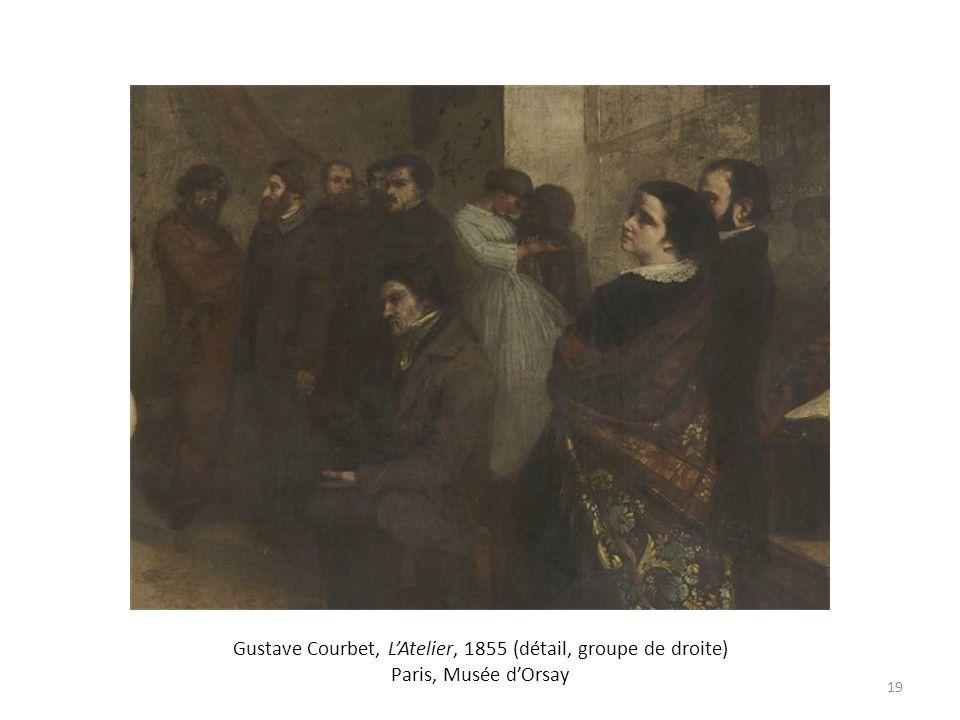 Gustave Courbet, LAtelier, 1855 (détail, groupe de droite) Paris, Musée dOrsay 19