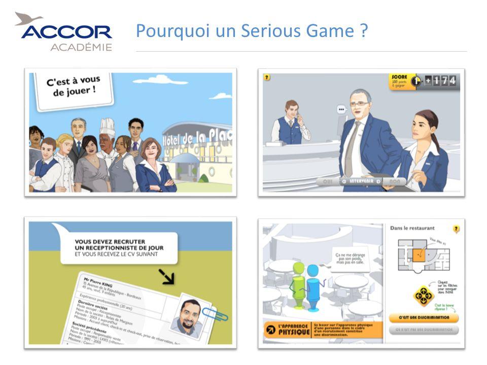15Direction / Département - Nom de la Présentation - Septembre 2011 Pourquoi un Serious Game ?