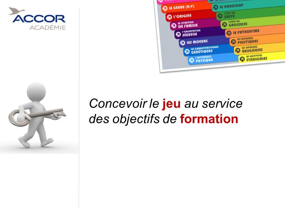16Direction / Département - Nom de la Présentation - Septembre 2011 Concevoir le jeu au service des objectifs de formation