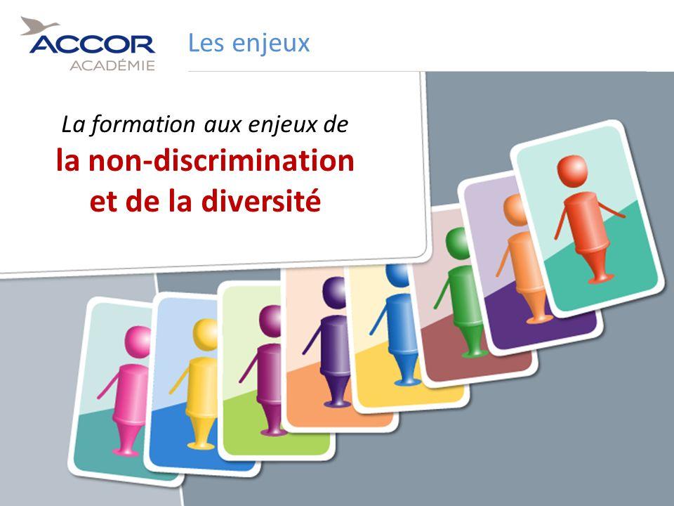 7Direction / Département - Nom de la Présentation - Septembre 2011 Les enjeux La formation aux enjeux de la non-discrimination et de la diversité