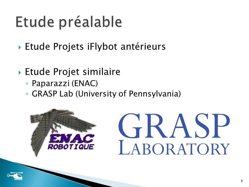 Etude Projets iFlybot antérieurs Etude Projet similaire Paparazzi (ENAC) GRASP Lab (University of Pennsylvania) 8