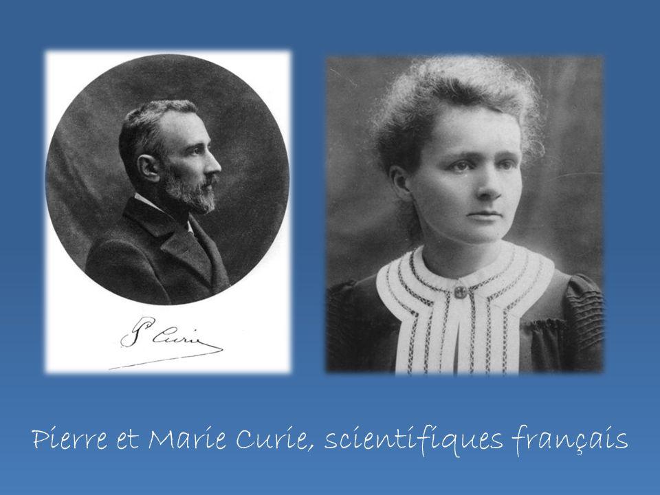 Pierre et Marie Curie, scientifiques français