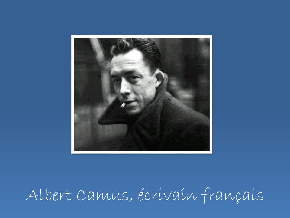 Albert Camus, écrivain français