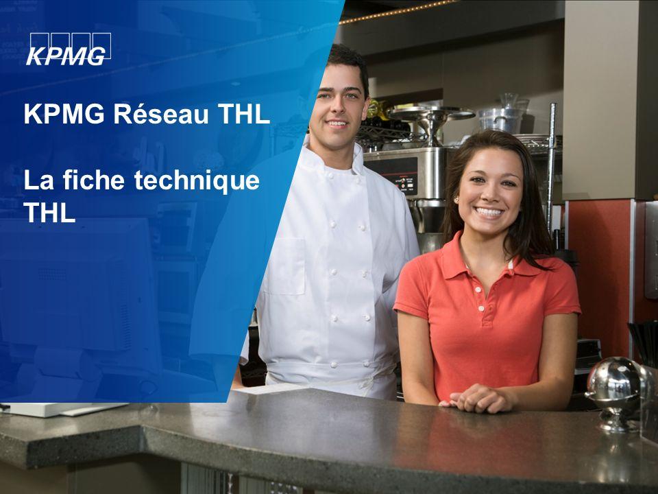KPMG Réseau THL La fiche technique THL
