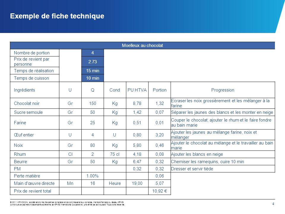 4 © 2011 KPMG S.A., société anonyme dexpertise comptable et de commissariat aux comptes, membre français du réseau KPMG constitué de cabinets indépend