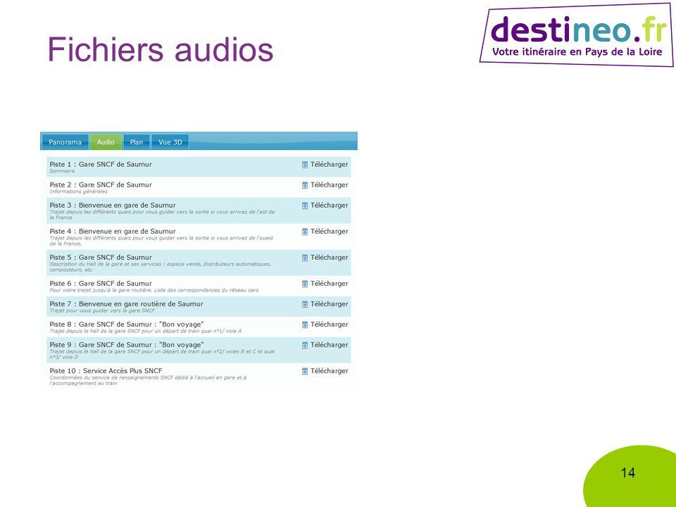 Fichiers audios 14