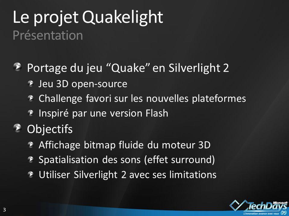 4 Affichage bitmap Limitations de Silverlight 2 JPEG ou PNG, pas de format brut Techniques existantes 1 pixel = 1 rectangle Encodage PNG sans compression La solution InnoveWare : PNG wrapper Pré-encodage et organisation mémoire optimisée Hack Silverlight 2 : pas de CRC sur les données Encodage/décodage en 256 couleurs (PNG 8-bit)