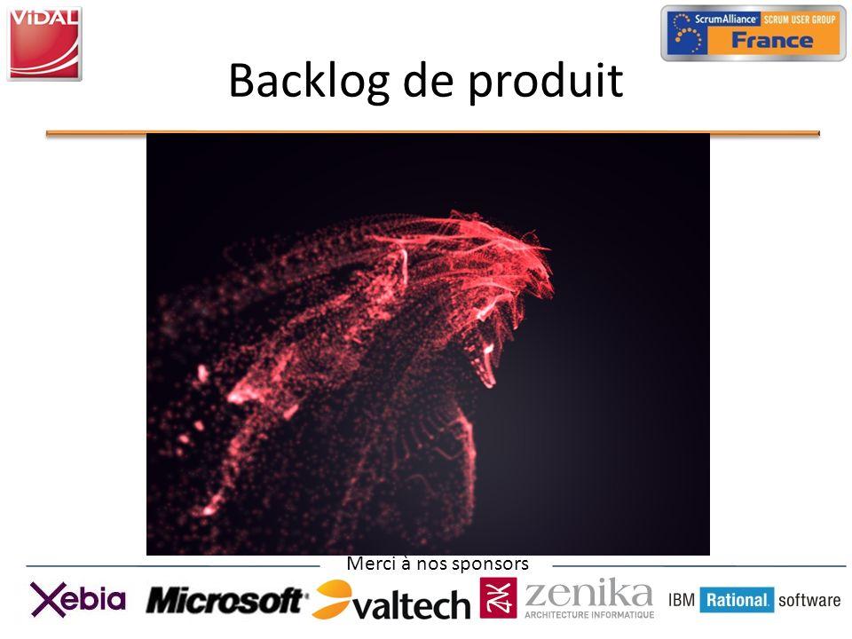 Merci à nos sponsors Backlog de produit