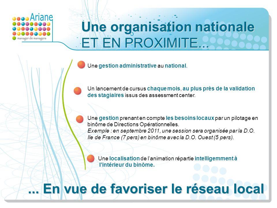 Une organisation nationale ET EN PROXIMITE... Une gestion administrative au national. Un lancement de cursus chaque mois, au plus près de la validatio