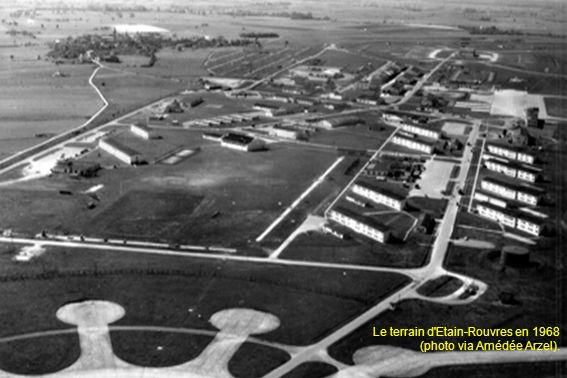 Le terrain d'Etain-Rouvres en 1968 (photo via Amédée Arzel).