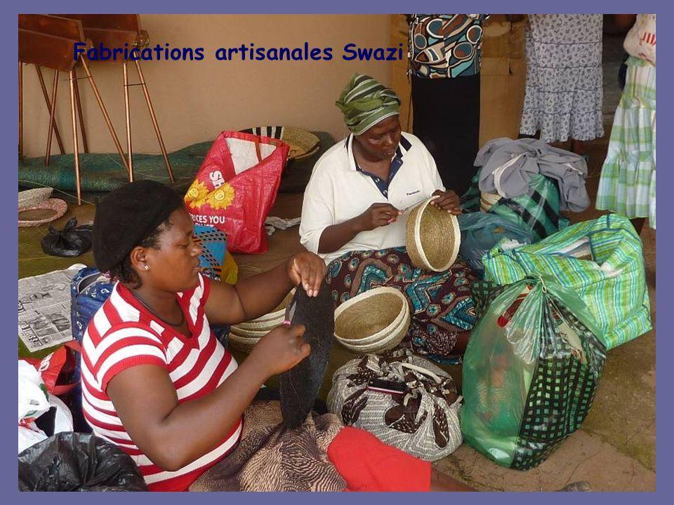 Une communauté ouvrière de tissage de fibres végétales gérée par des femmes swazi