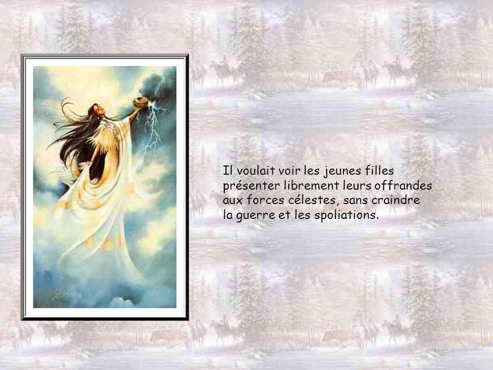 Shénandoah écoute la réponse du Grand Esprit.