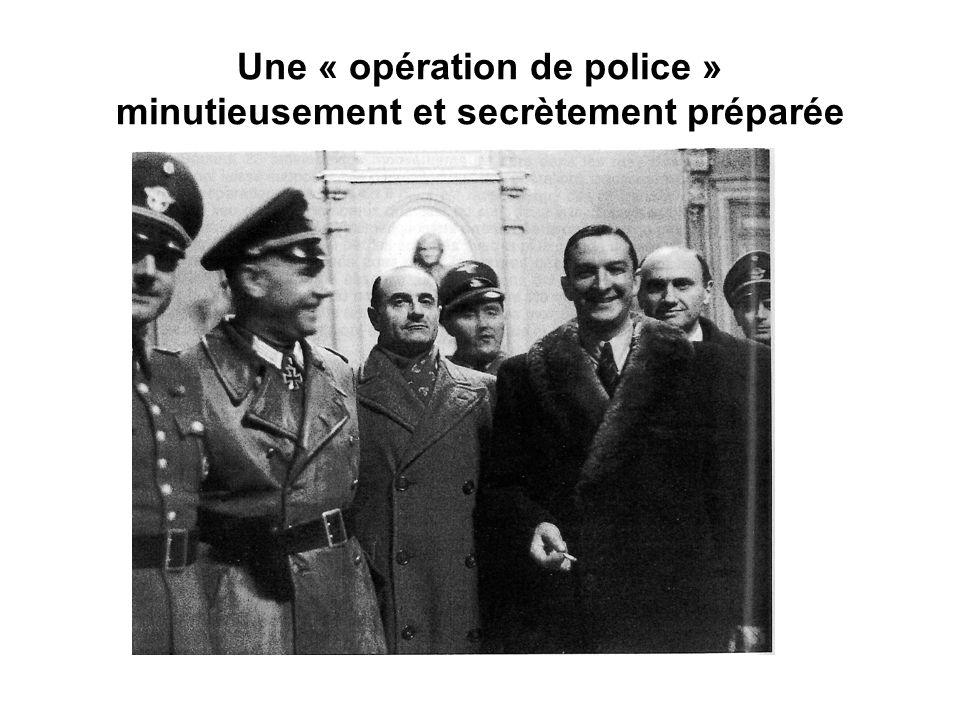 Une opération nécessitant dimportantes forces de police allemandes et françaises