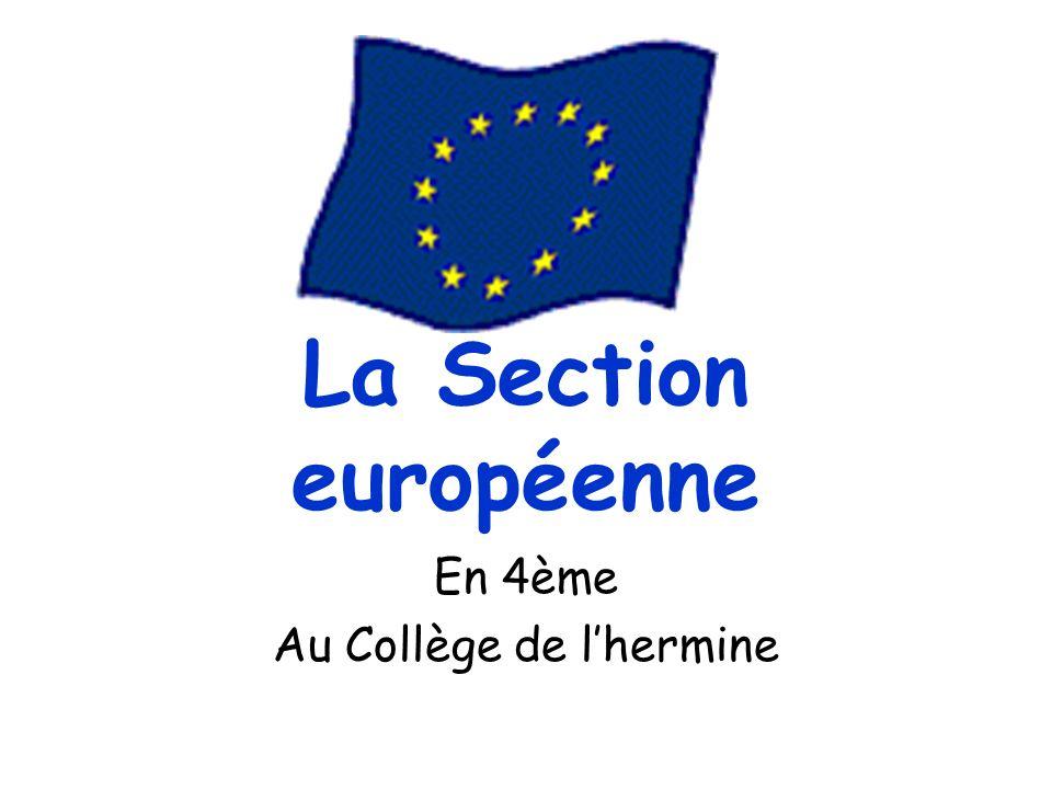 La Section européenne En 4ème Au Collège de lhermine