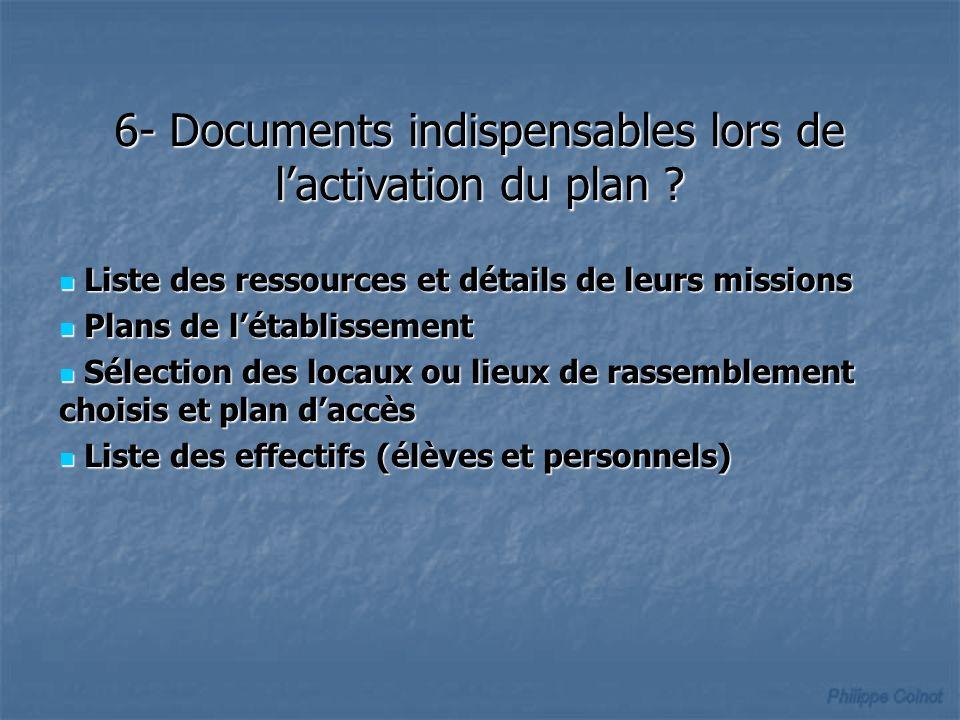 Liste des ressources et détails de leurs missions Liste des ressources et détails de leurs missions Plans de létablissement Plans de létablissement Sé