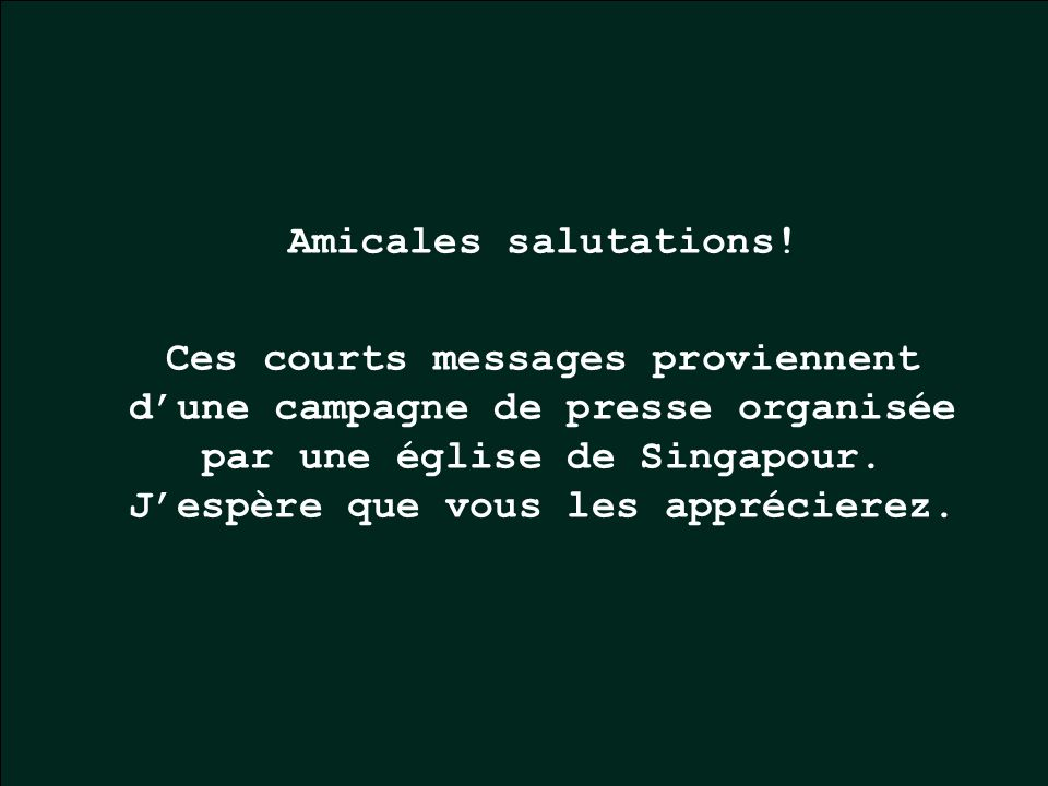 Amicales salutations.