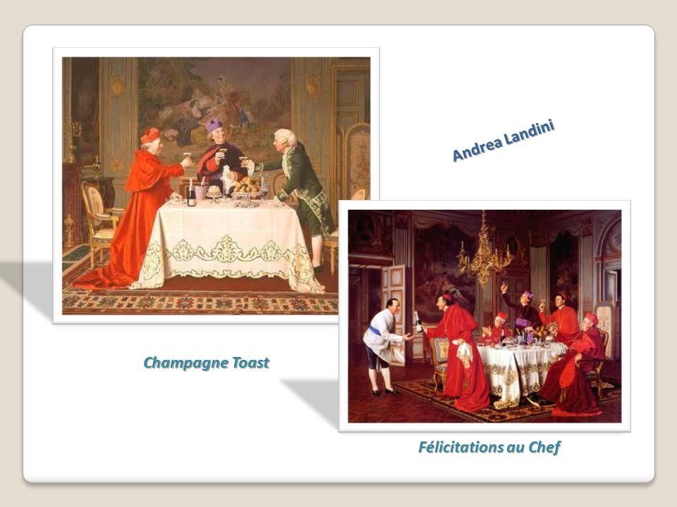 Andrea Landini Champagne Toast Félicitations au Chef
