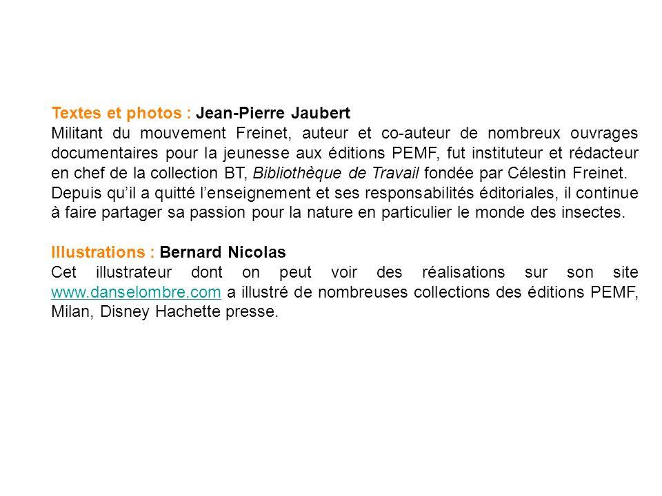 Textes et photos : Jean-Pierre Jaubert Militant du mouvement Freinet, auteur et co-auteur de nombreux ouvrages documentaires pour la jeunesse aux éditions PEMF, fut instituteur et rédacteur en chef de la collection BT, Bibliothèque de Travail fondée par Célestin Freinet.