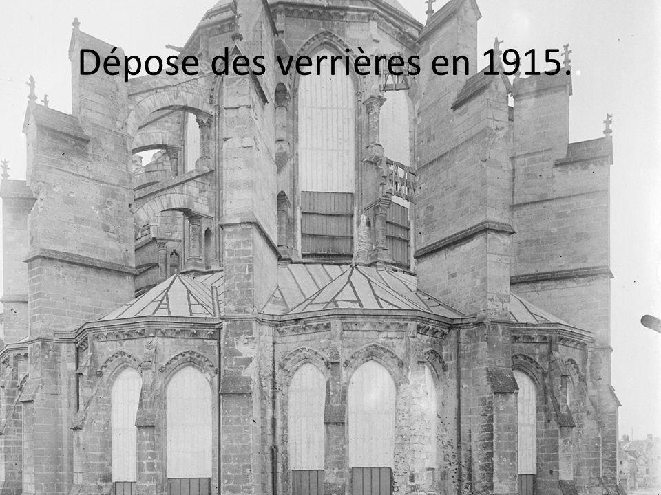 Dépose des verrières en 1915..