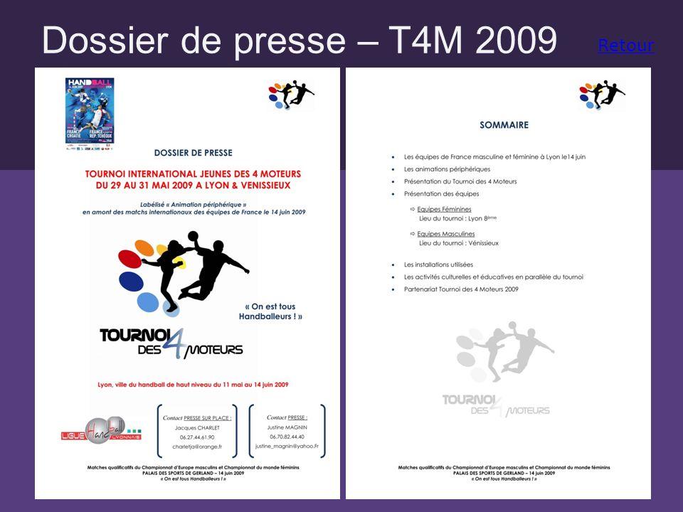 Dossier de presse – T4M 2009 Retour