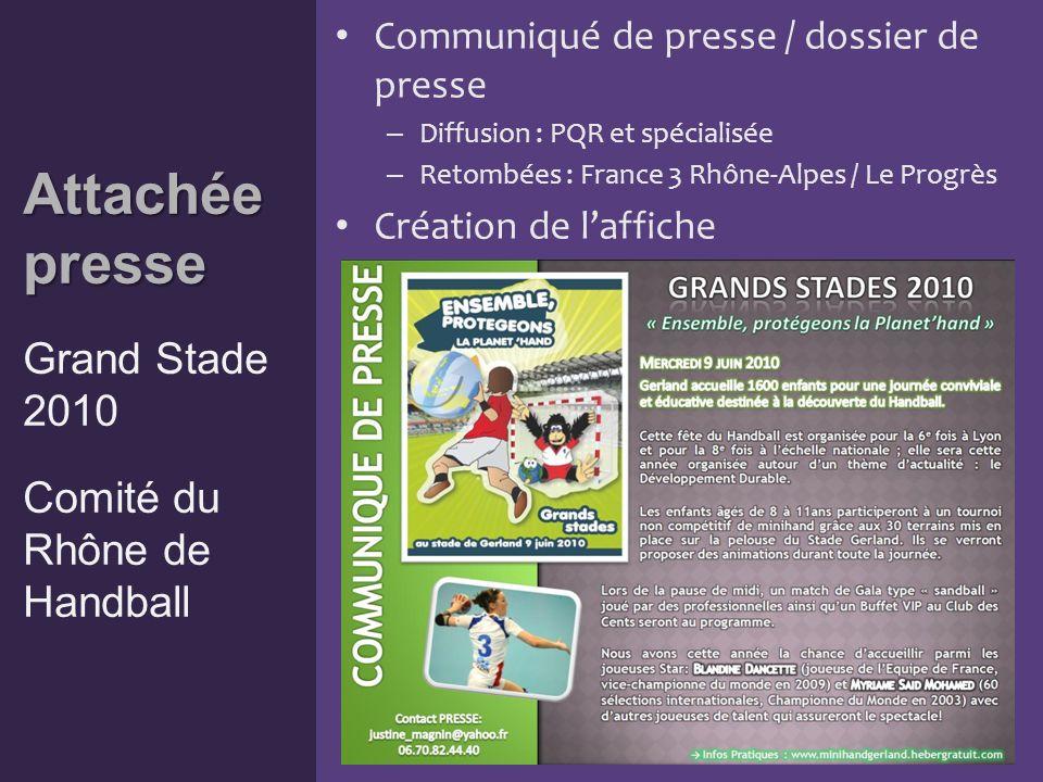Chef de Projet Chef de Projet Matchs des EdF de Handball masculine et féminine – 14 juin 2009 Ligue du Lyonnais de Handball Chef de projet Création de supports – Programme de lévénement Programme – Annuaire de lorganisation (ci-dessous)