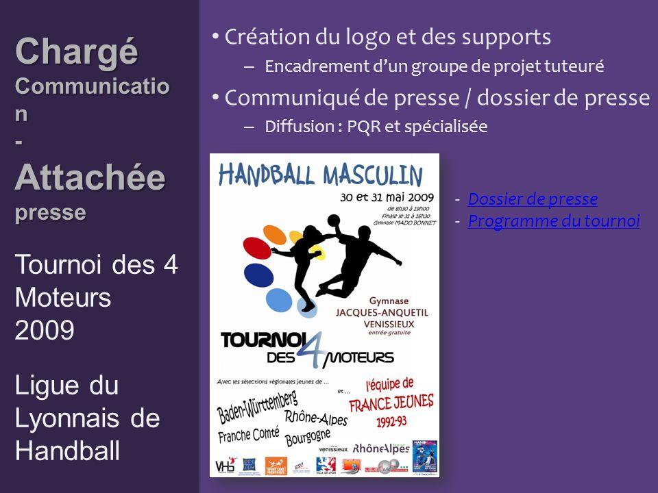 Attachée presse Attachée presse Tournoi de Sandball 2009 Comité du Rhône de Handball Communiqué de presse / dossier de presse – Diffusion : PQR et spécialisée