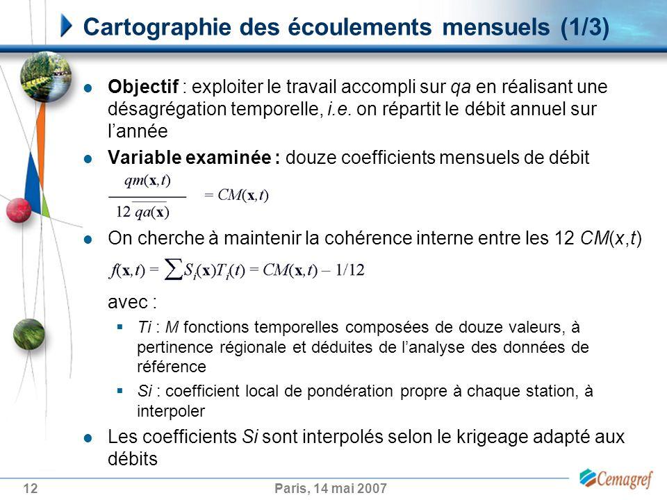 12Paris, 14 mai 2007 Objectif : exploiter le travail accompli sur qa en réalisant une désagrégation temporelle, i.e.