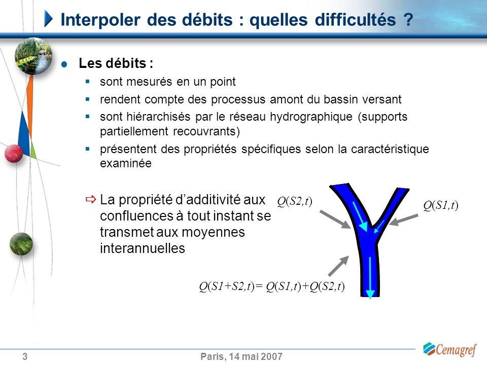 4Paris, 14 mai 2007 Un point sur les approches possibles Usage de formules empiriques à base de variables descriptives du bassin versant associées ou non à des variables météorologiques quelles variables intégrer (indice de pente, surface…) .