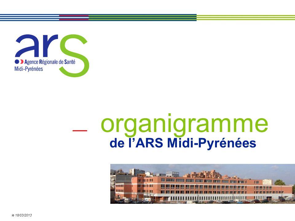 de lARS Midi-Pyrénées organigramme le 18/03/2013