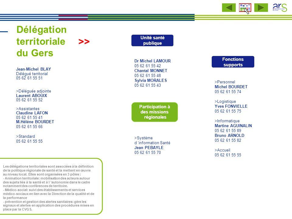 Délégation territoriale du Gers >Personnel Michel BOURDET 05 62 61 55 74 >Logistique Yves FONVIELLE 05 62 61 55 75 >Informatique Martine AGUINALIN 05
