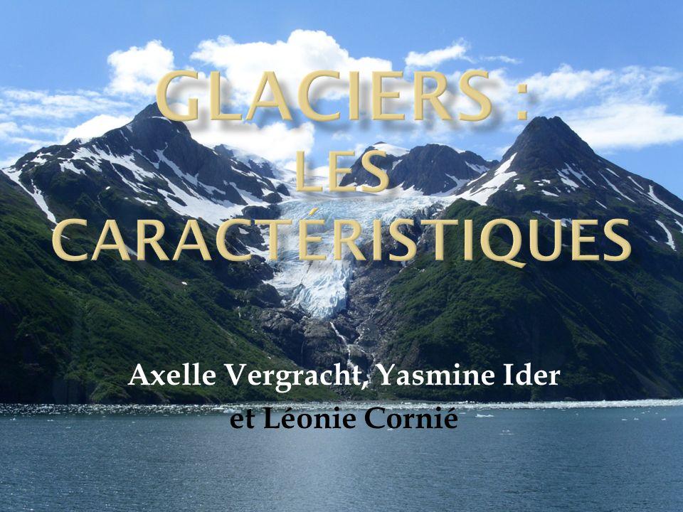 I.La structure 1. Les différentes zones dun glacier 2.