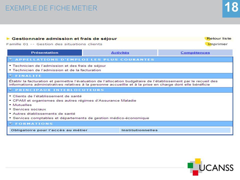 EXEMPLE DE FICHE METIER 18