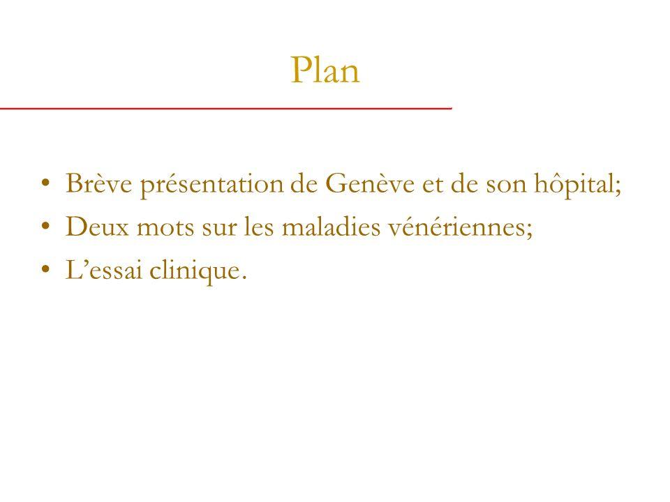 Plan Brève présentation de Genève et de son hôpital; Deux mots sur les maladies vénériennes; Lessai clinique.