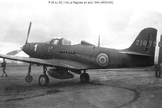 P-39 du GC I/4 à La Réghaïa en août 1944 (ARDHAN)