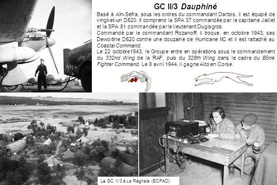 GC II/3 Dauphiné Basé à Aïn-Sefra, sous les ordres du commandant Dartois, il est équipé de vingt-et-un D520. Il comprend la SPA 37 commandée par le ca