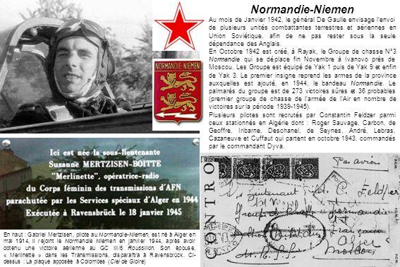 Normandie-Niemen Au mois de Janvier 1942, le général De Gaulle envisage lenvoi de plusieurs unités combattantes terrestres et aériennes en Union Sovié