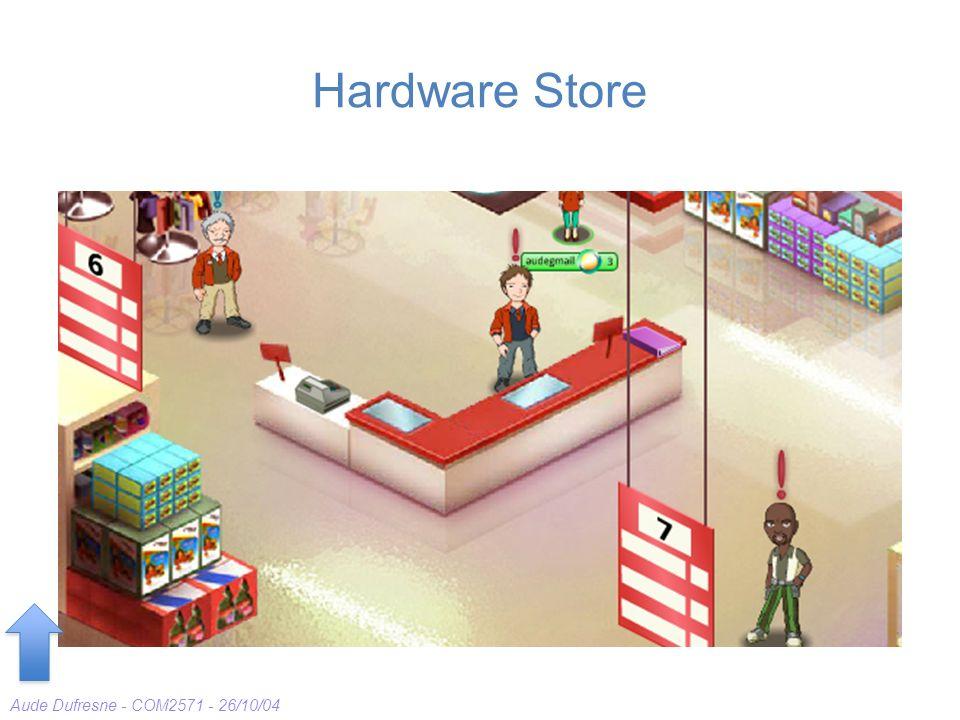 Aude Dufresne - COM2571 - 26/10/04 Hardware Store