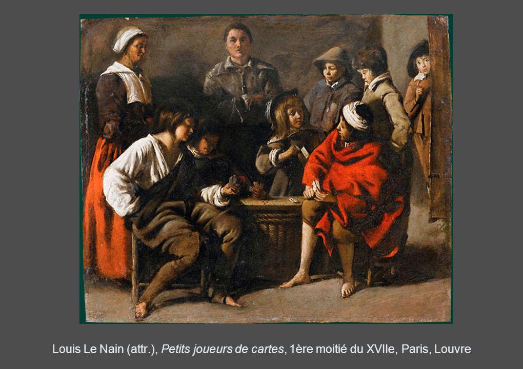Louis Le Nain (attr.), Petits joueurs de cartes, 1ère moitié du XVIIe, Paris, Louvre