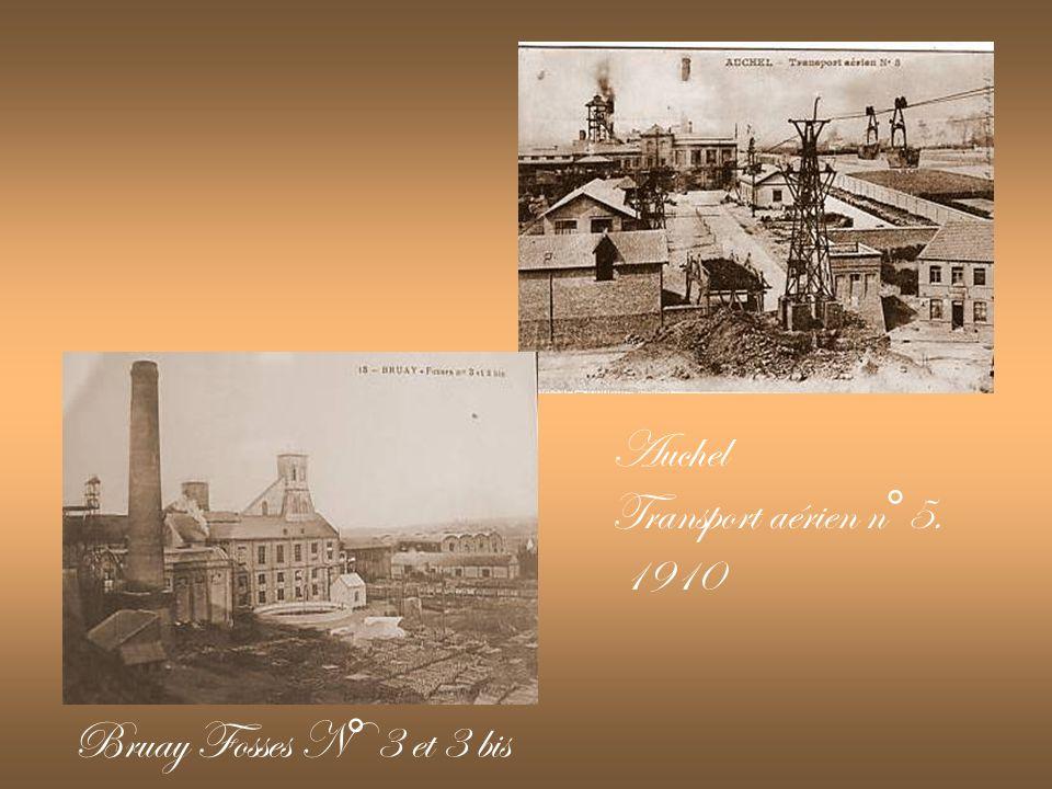 Mine de Oignies (62) Fosse N°2 Wagons au Triage Lievin (62) Fosse N°3 & Voie Ferrée 1905